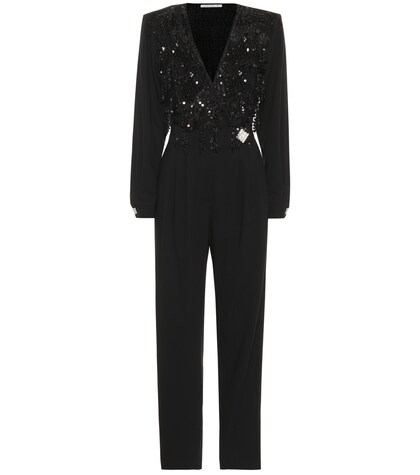 Alessandra Rich | Embellished stretch wool jumpsuit | Clouty