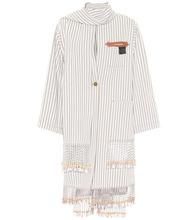 x Paula's Ibiza embellished cotton-blend coat