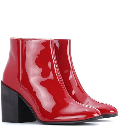 Acne Studios | Beth patent leather ankle boots | Clouty