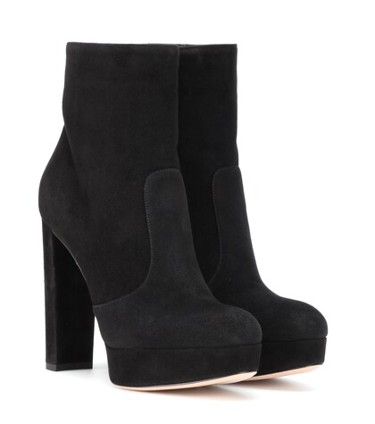 Gianvito Rossi | Brook plateau suede ankle boots | Clouty