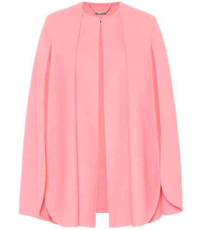 Alexander McQueen   Wool and cashmere cape   Clouty