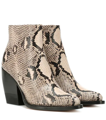 Chloé | Rylee embossed leather boots | Clouty