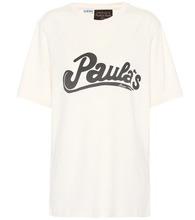 X Paula's Ibiza printed cotton and silk T-shirt