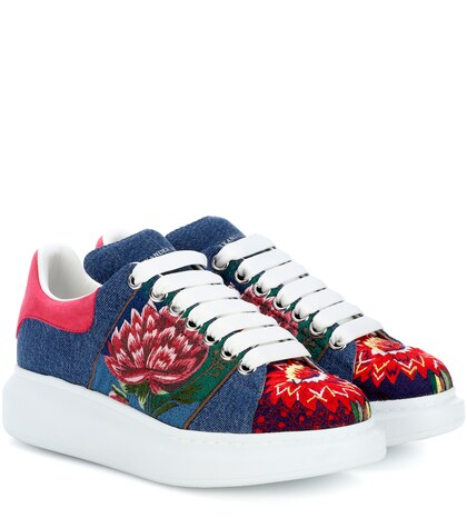 Alexander McQueen | Embroidered platform sneakers | Clouty