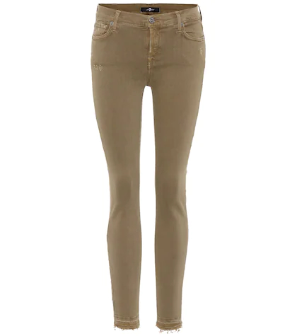 7 For All Mankind | Cropped mid-rise skinny jeans | Clouty