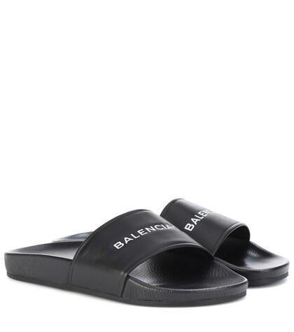 Balenciaga   Leather slides   Clouty