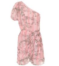 Cotton and silk minidress