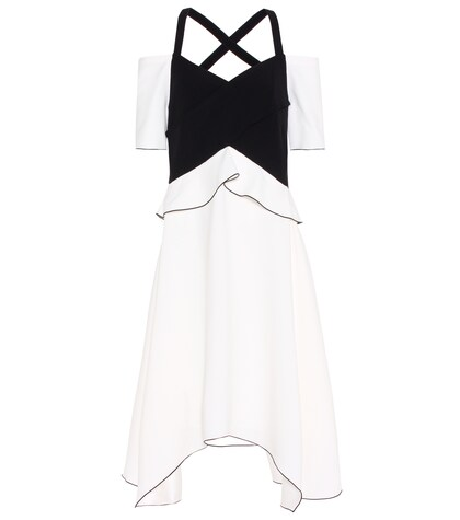 Proenza Schouler | Cold-shoulder crepe dress | Clouty