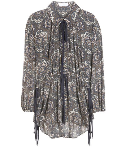 Chloé | Printed crepon silk blouse | Clouty