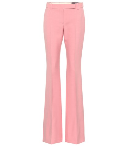 Alexander McQueen | Mid-rise flared wool and silk pants | Clouty