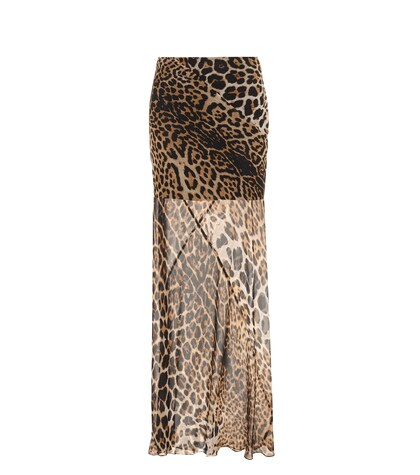 SAINT LAURENT | Printed silk maxi skirt | Clouty
