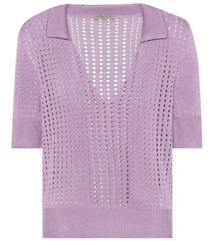 Bottega Veneta   Knitted silk top   Clouty