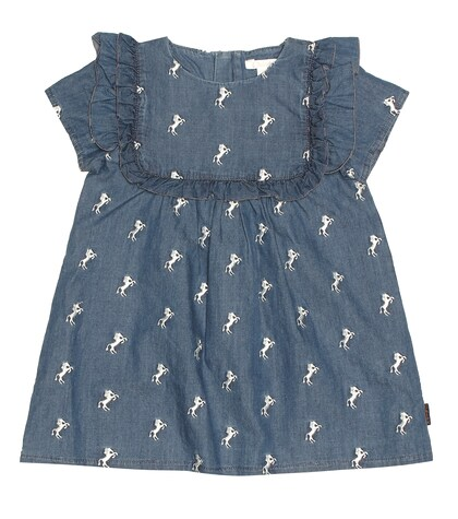Chloé Kids | Baby embroidered chambray dress | Clouty