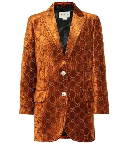 GUCCI | GG velvet blazer | Clouty