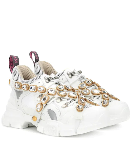GUCCI | Flashtrek embellished sneakers | Clouty
