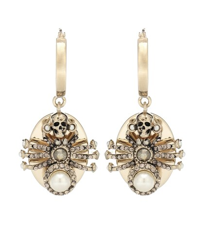 Alexander McQueen | Spider embellished earrings | Clouty