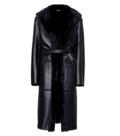 JOSEPH | Hank leather and shearling coat | Clouty