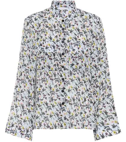 Chloé | Floral-printed crepe blouse | Clouty