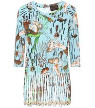 x Paula's Ibiza fringe cotton T-shirt