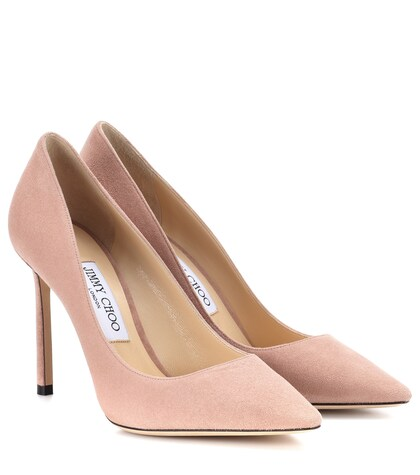 Jimmy Choo | Romy 100 suede pumps | Clouty