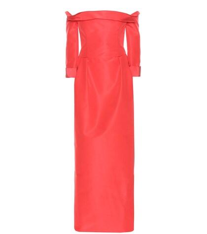 Carolina Herrera | Off-the-shoulder silk dress | Clouty