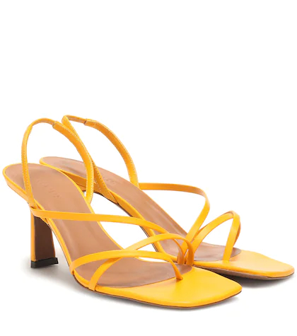 Neous | Exclusive to Mytheresa – Esmeralda leather sandals | Clouty