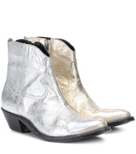 Фото Young metallic leather ankle boots