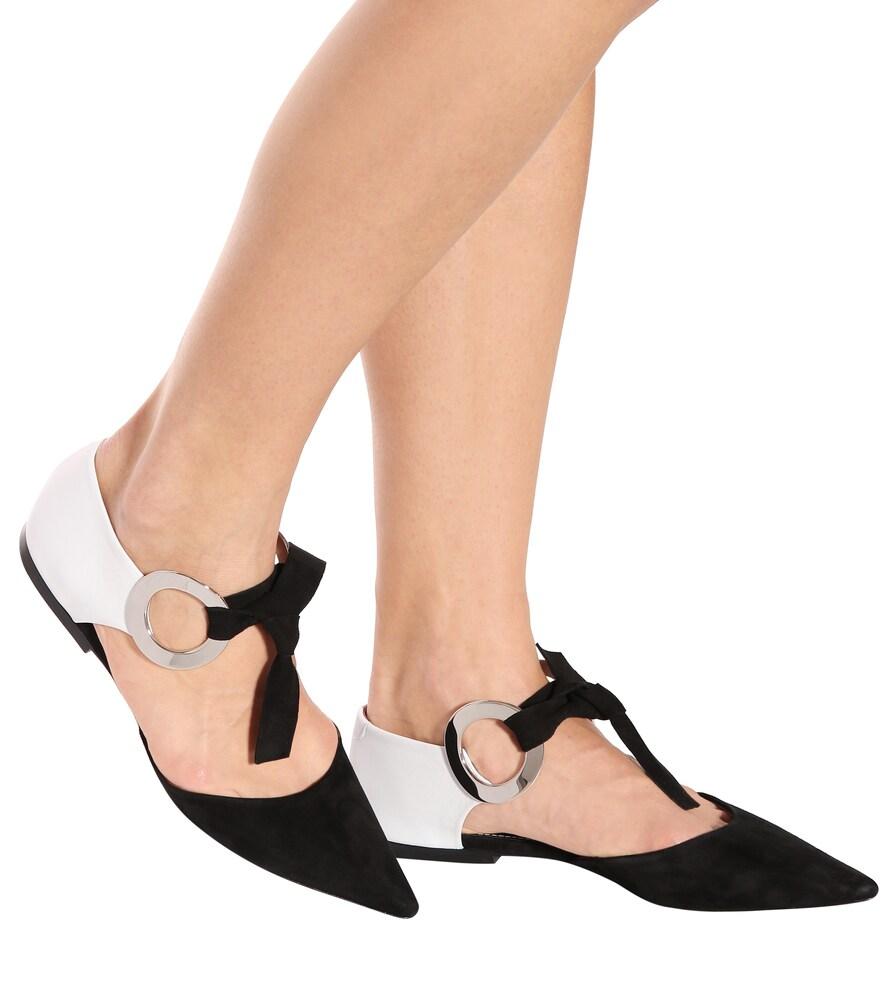 Proenza Schouler | Embellished suede ballerinas | Clouty