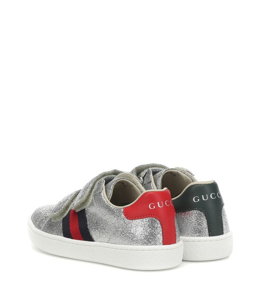 Gucci Kids | Ace glitter sneakers | Clouty