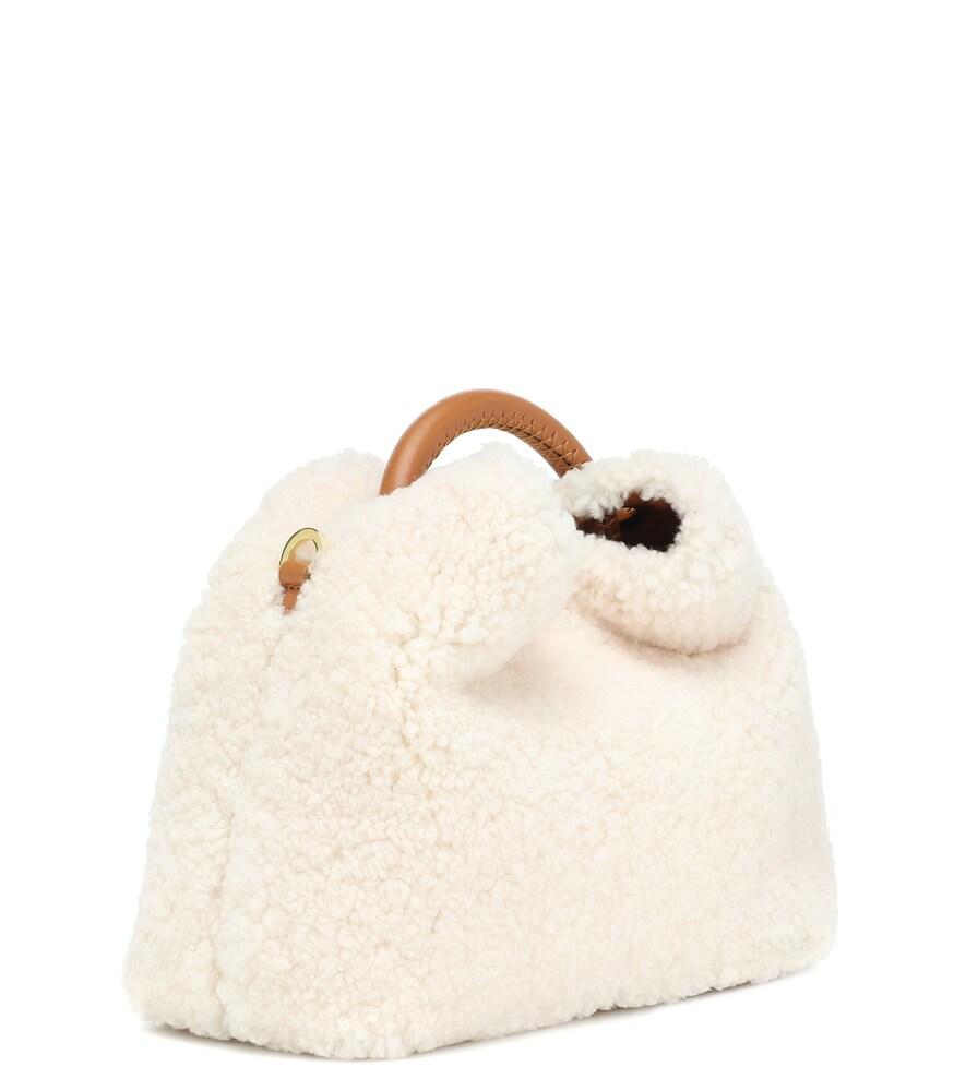 Elleme | Baozi shearling shoulder bag | Clouty