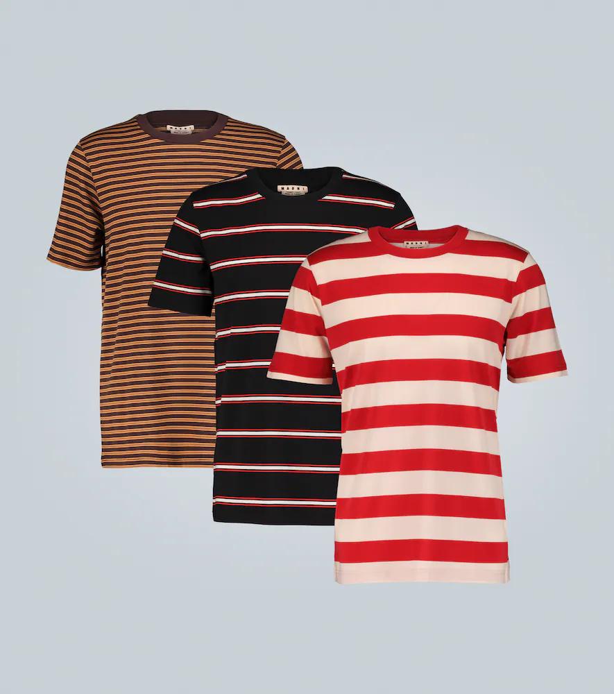 Marni | Set of 3 striped T-shirts | Clouty
