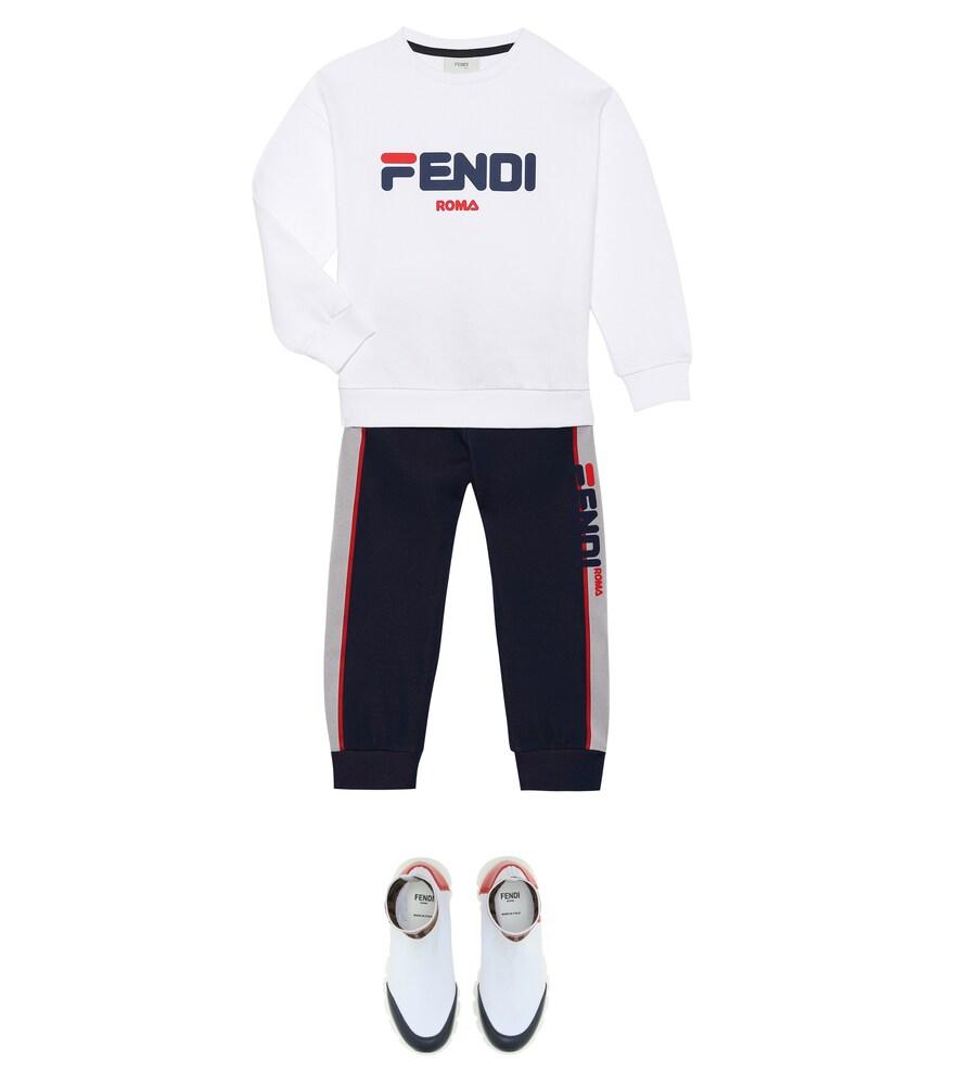 Fendi Children | FENDI MANIA cotton sweatshirt | Clouty