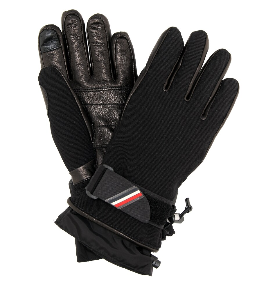 Moncler Grenoble | Leather-trimmed ski gloves | Clouty