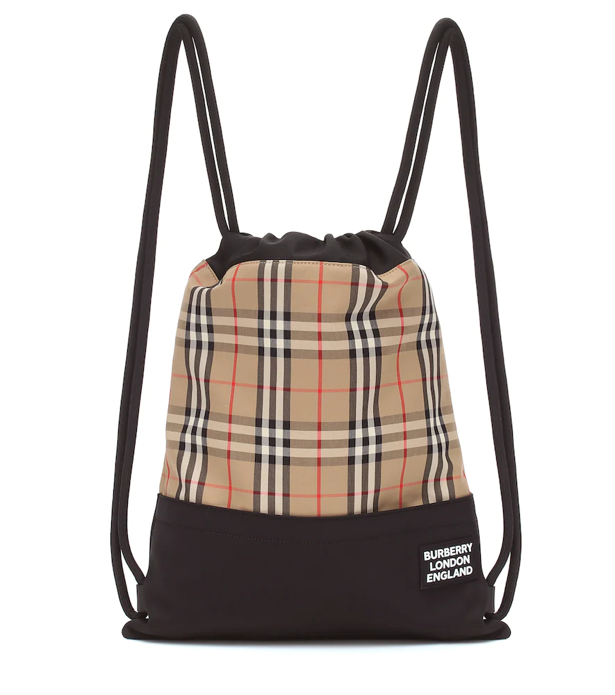 BURBERRY | Check drawstring backpack | Clouty