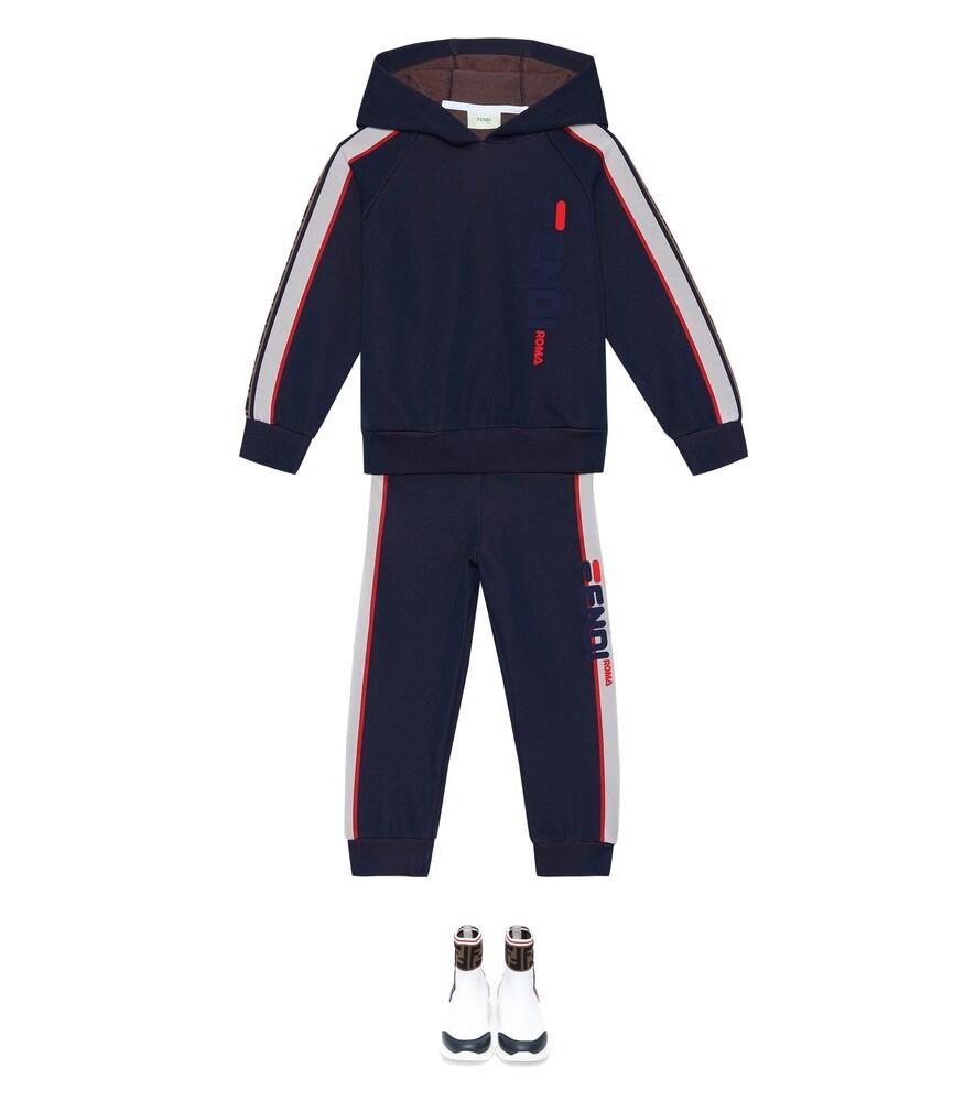 Fendi Children   FENDI MANIA cotton-blend hoodie   Clouty