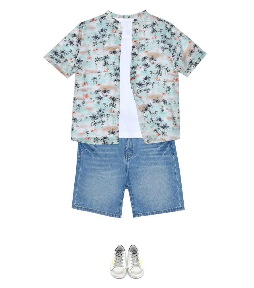 Bonpoint   Noah printed cotton-voile shirt   Clouty