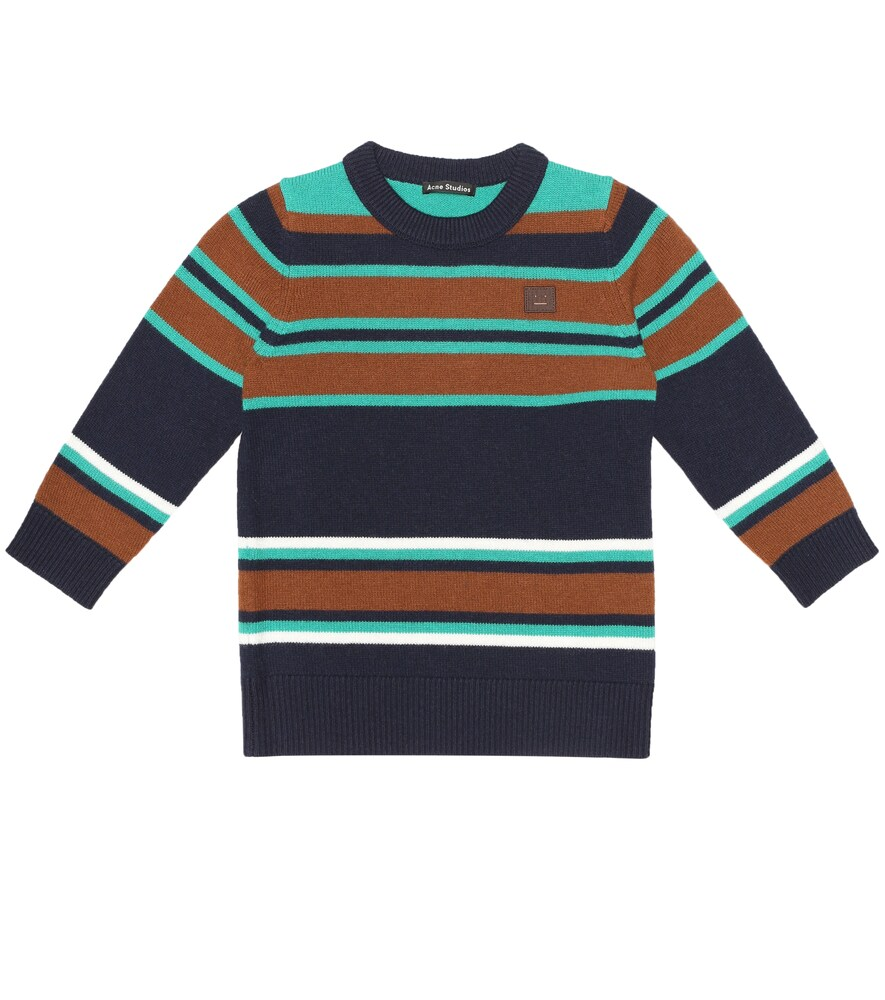 Acne Studios | Mini Face striped wool sweater | Clouty