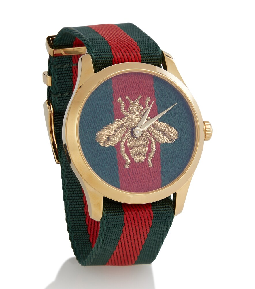 GUCCI | Le MarchA© des Merveilles 38mm striped fabric watch | Clouty