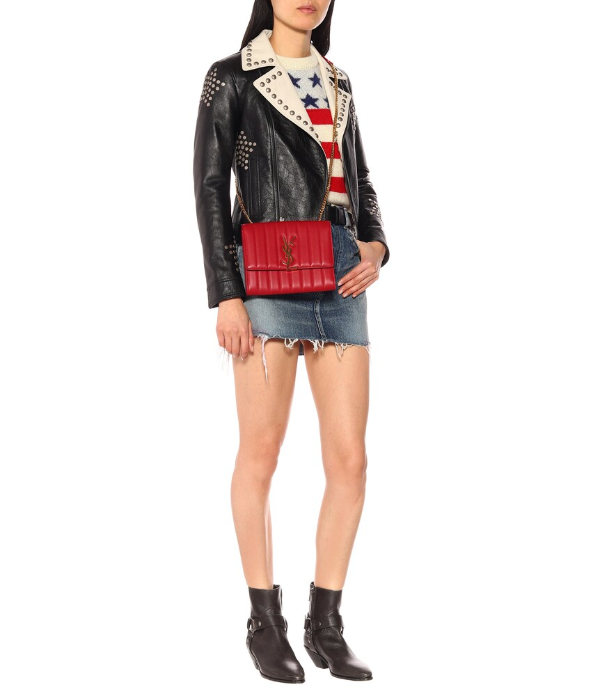 SAINT LAURENT   Denim miniskirt   Clouty