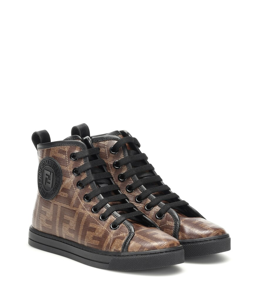 Fendi Children   Double F high-top sneakers   Clouty