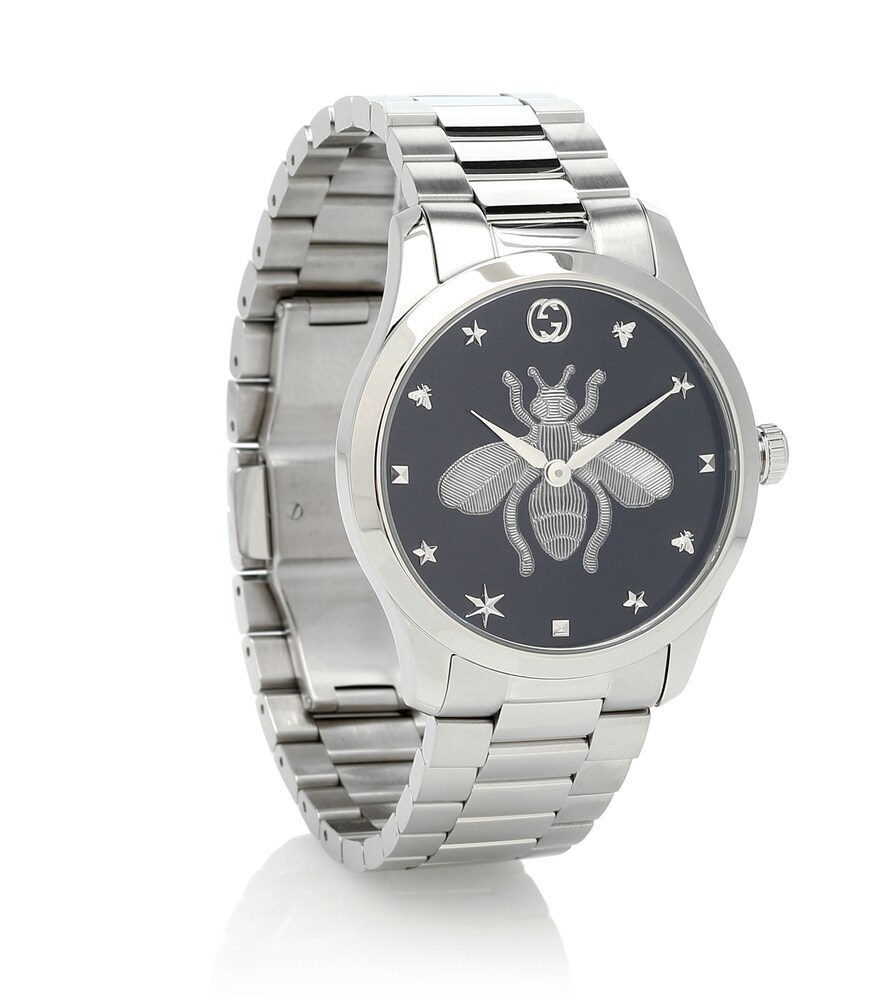GUCCI   G-Timeless 38mm stainless-steel watch   Clouty
