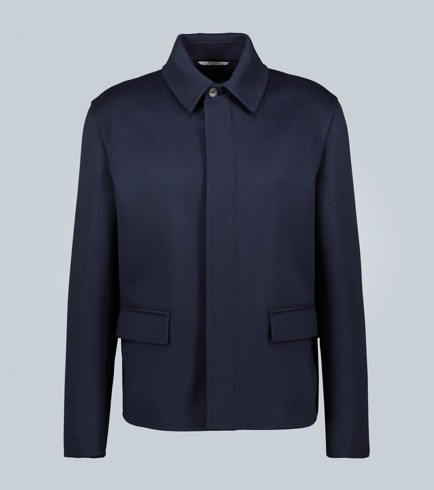 """VALENTINO   Exclusive to Mytheresa a€"""" wool and cashmere-blend jacket   Clouty"""