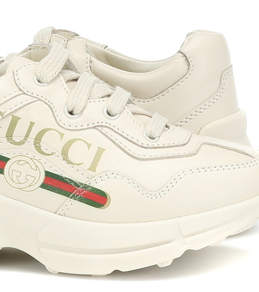 Gucci Kids | Rhyton leather sneakers | Clouty