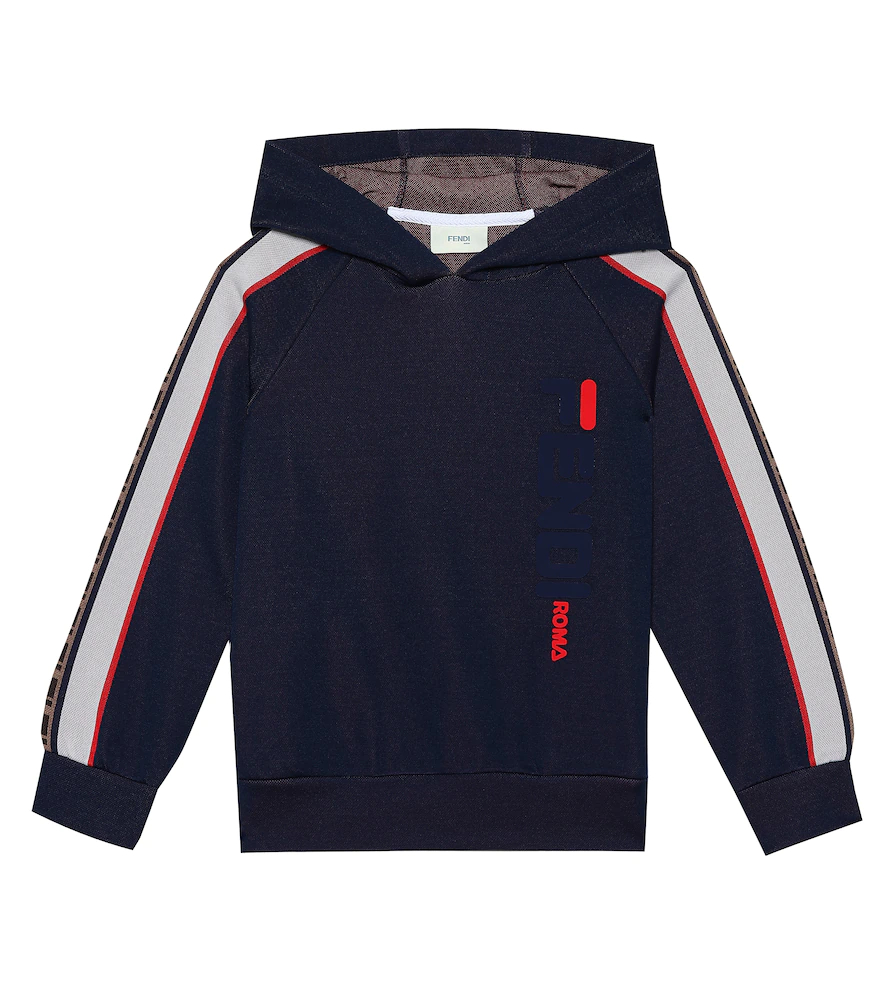 Fendi Children | FENDI MANIA cotton-blend hoodie | Clouty