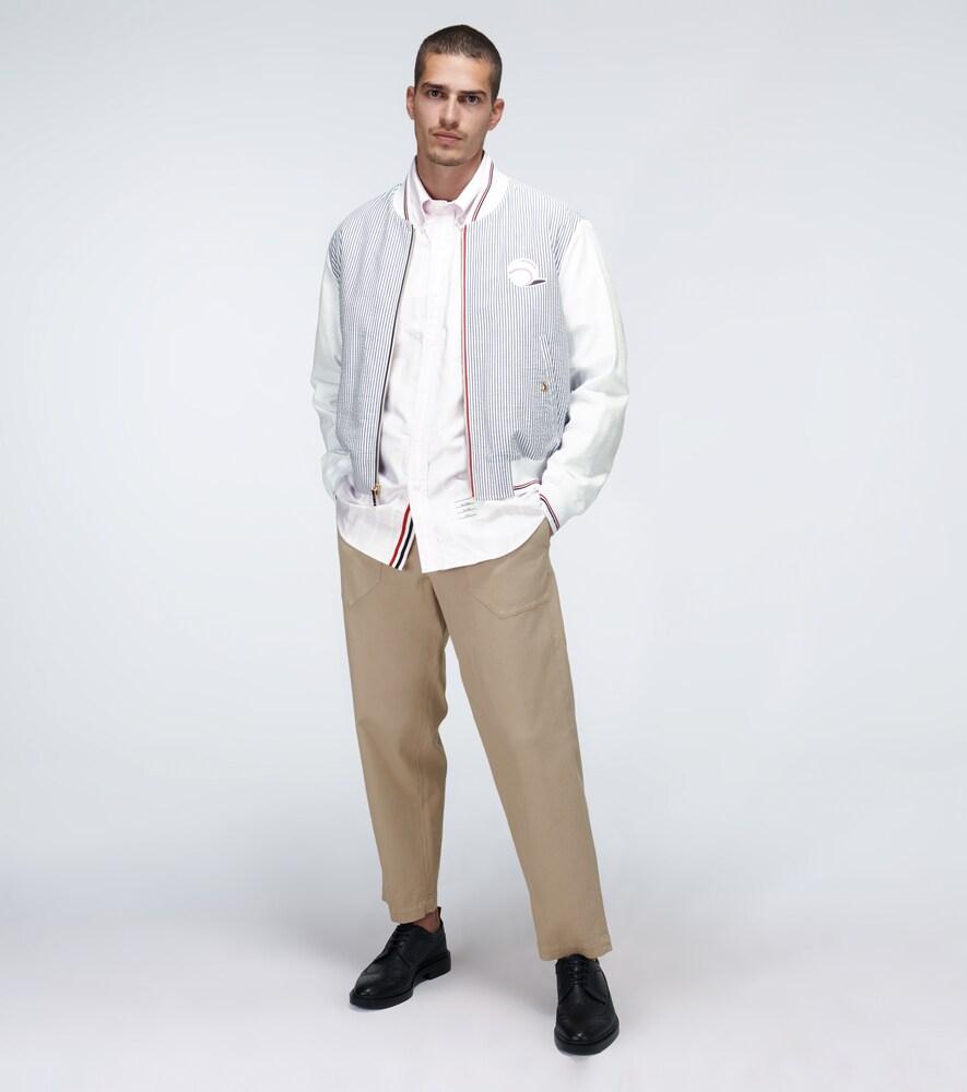 Thom Browne | Seersucker striped blouson jacket | Clouty
