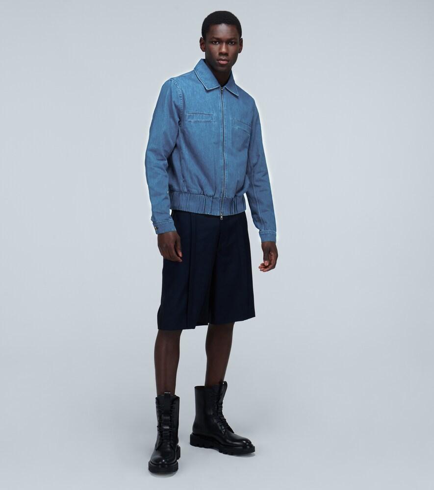 King and Tuckfield | Denim Harrington jacket | Clouty