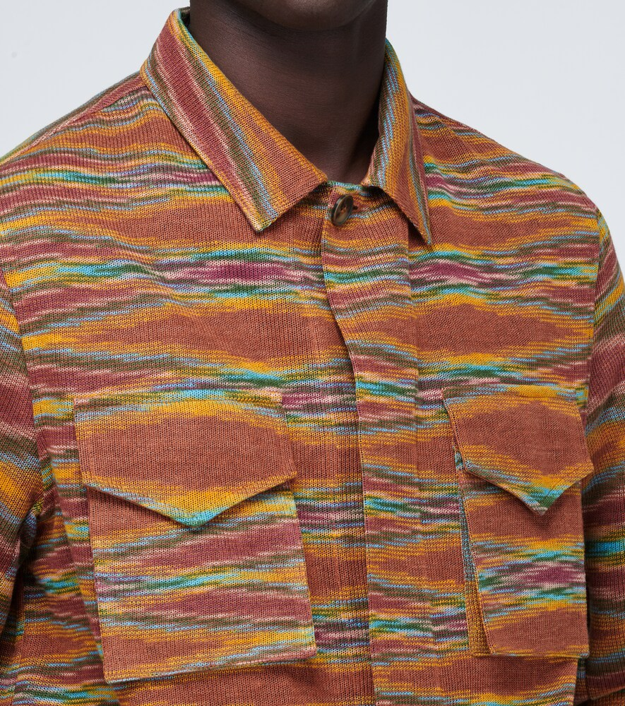 Missoni | Linen-blend knitted overshirt | Clouty