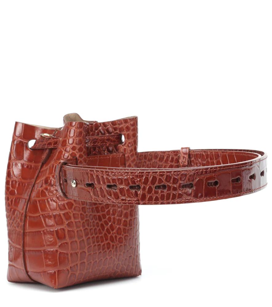 Nanushka | Minee faux leather bucket bag | Clouty