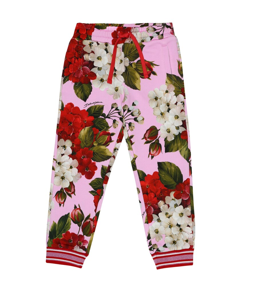 Dolce & Gabbana Junior | Floral cotton-jersey trackpants | Clouty