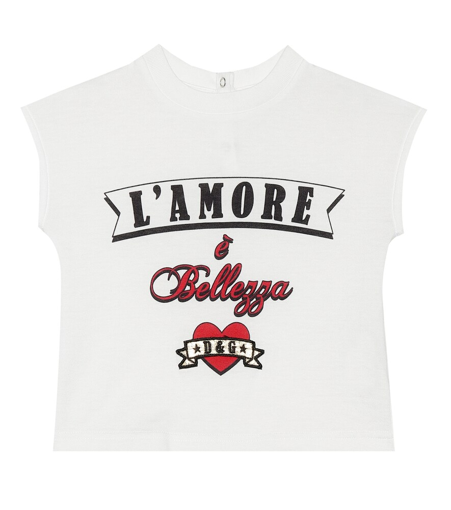Dolce & Gabbana Junior   Baby L'Amore cotton jersey top   Clouty